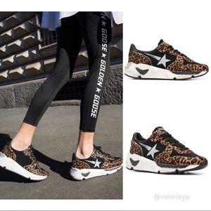 NEW Golden Goose Leopard Running Sole Sneakers